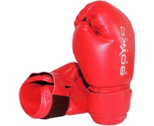 8-ounce Vinyl Boyko-Sport Gloves Red