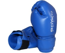 10-ounce Leather Boyko-Sport Gloves Blue