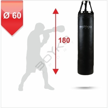 Punching Bag d-60cm h-180cm, Leather on chains, 120-140 kg