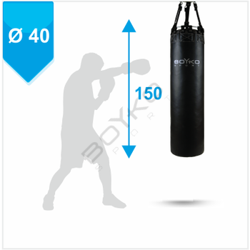 Punching Bag d-40cm h-150cm, PVC on straps, 45-55 kg
