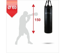 Punching Bag d-60cm h-150cm, Leather on chains, 110-130 kg
