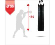Punching Bag d-50cm h-180cm, Leather on chains, 90-100 kg