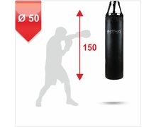 Punching Bag d-50cm h-150cm, Leather on chains, 80-90 kg