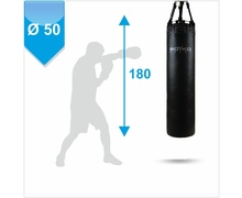 Punching Bag d-50cm h-180cm, PVC on chains, 90-100 kg