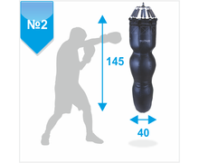 Silhouette Punching Bag No. 2 PVC 950-1100 g / m2, 55-65 kg (on springs 8 pcs)