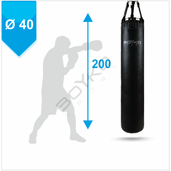 Punching Bag d-40 - 200 cm PVC fabric on belts, 60-75 kg