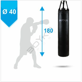 Punching Bag d-40cm h-180cm, PVC on straps, 55-70 kg
