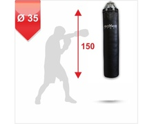 Punching Bag d-35cm h-150cm, Leather on springs, 40-55 kg