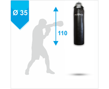 Punching Bag d-35cm h-110cm, Leather on springs, 30-40 kg