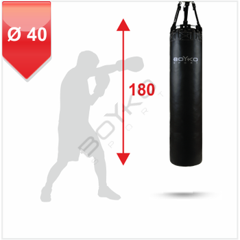 Punching Bag d-40 - 180 cm Leather on straps, 60-75 kg