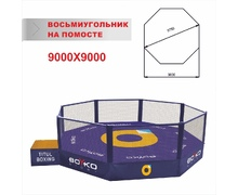 MMA Cage Diameter 9,75 m., on a Platform 1 m.