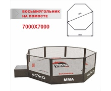 MMA Cage Diameter 7,5 m., on a Platform 1 m.