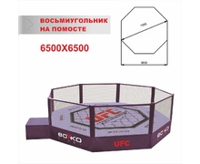 MMA Cage Diameter 7 m., on a Platform 1 m.