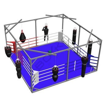 Training Floor-Mounted Boxing Ring in Cube, Floor 5х5 Ropes 4х4